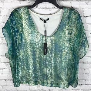 NWT Rachel Roy 100% Silk Blouse Sz M